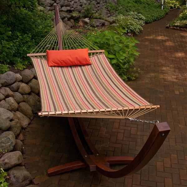 Cardona Striped Sunbrella Double Tree Hammock by Red Barrel Studio