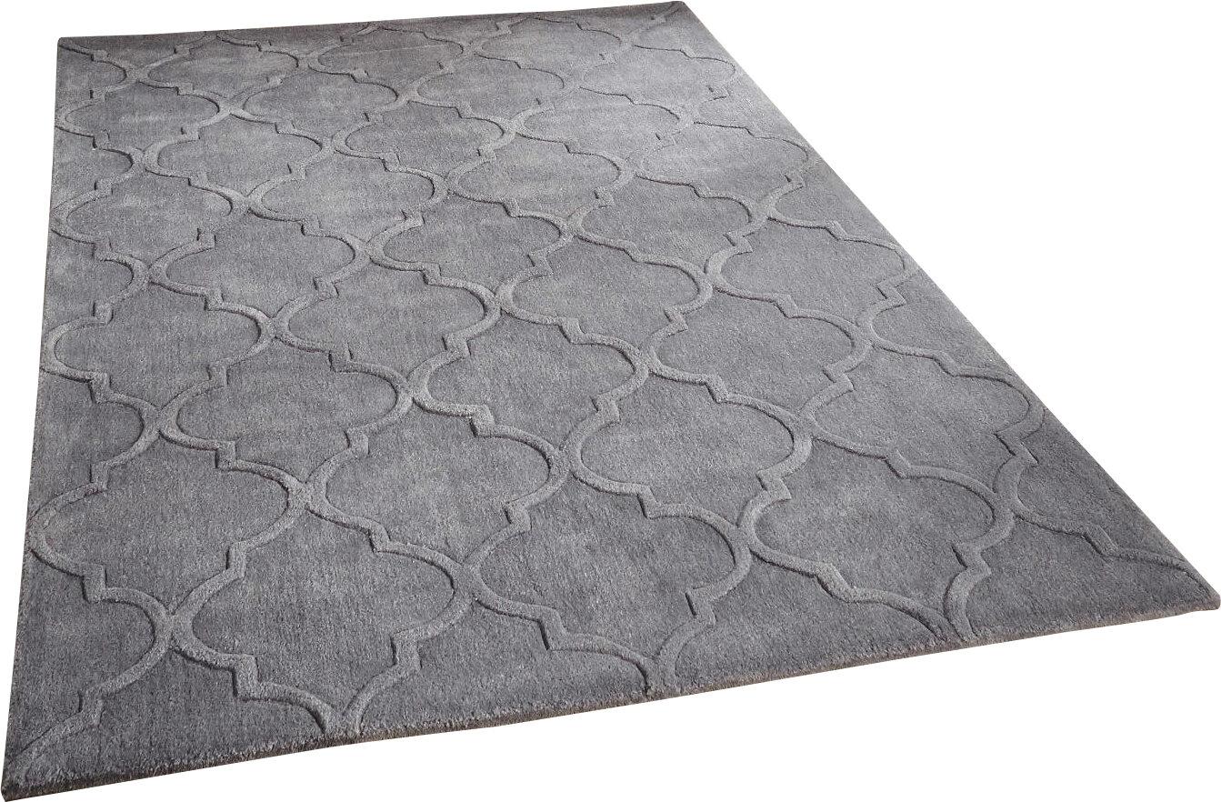 Latitude Vive Handgetufteter Teppich Bertrange in Silber ...