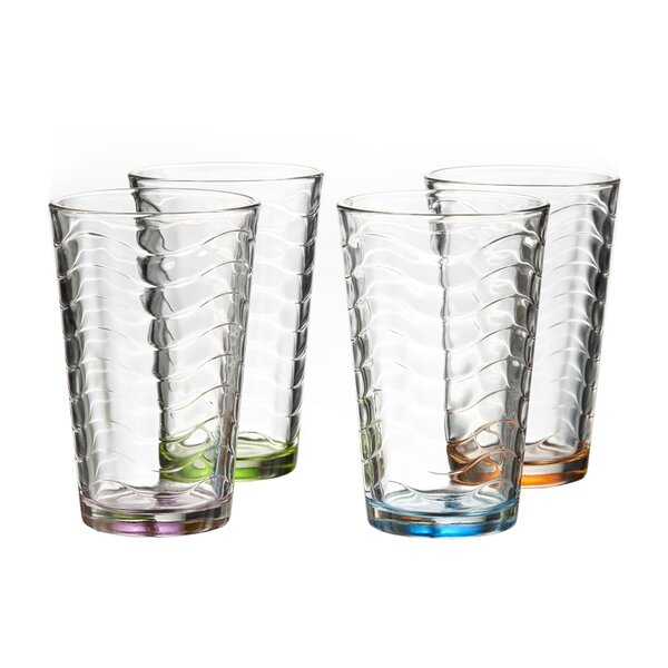 Allure 14 oz. Highball glass (Set of 4) by Style Setter