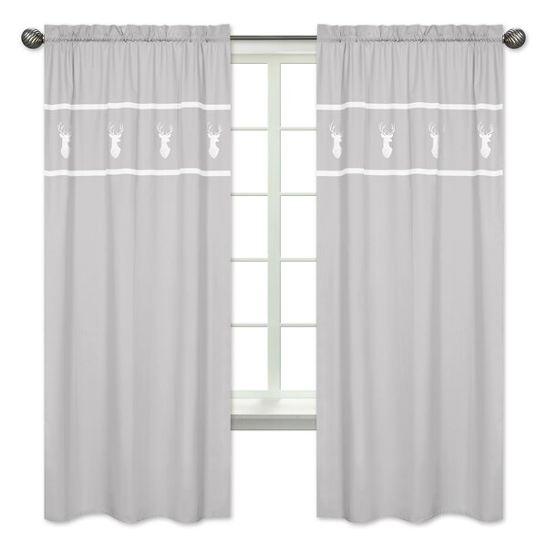 Woodsy Rod Pocket Window Curtain Panels (Set of 2) by Sweet Jojo Designs