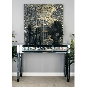 Console Table With Mirrored Panels by Cole & Grey