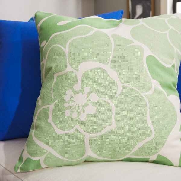Budleigh Salterton Floral Cotton Throw Pillow by House of Hampton