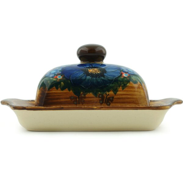 Tropical Wildflowers Butter Dish by Polmedia