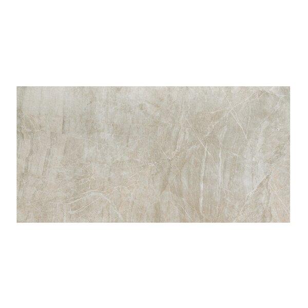 Anthology 12 x 24 Porcelain Field Tile in Polished Grey by Samson