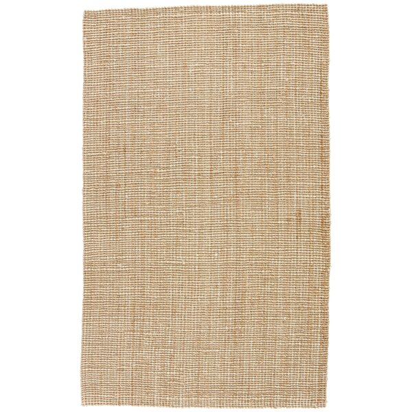 Cayman Hand-Loomed Tan/White Area Rug by Union Rustic