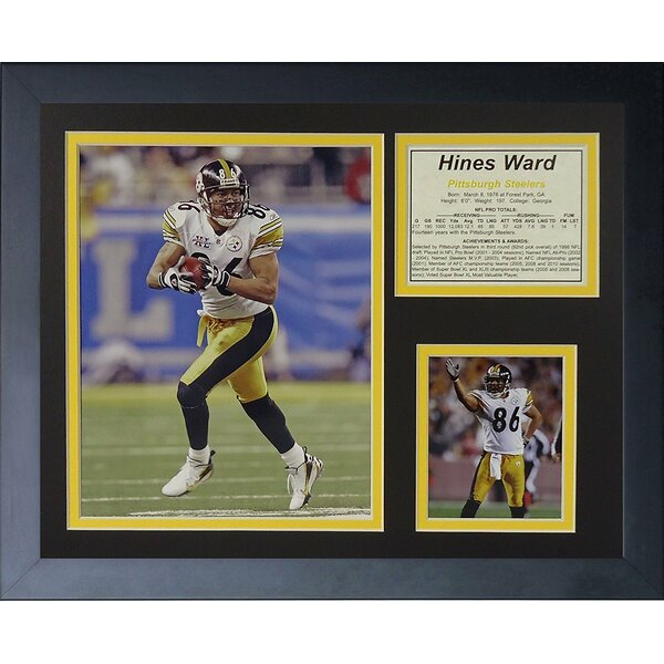 Hines Ward Away Framed Memorabilia by Legends Never Die