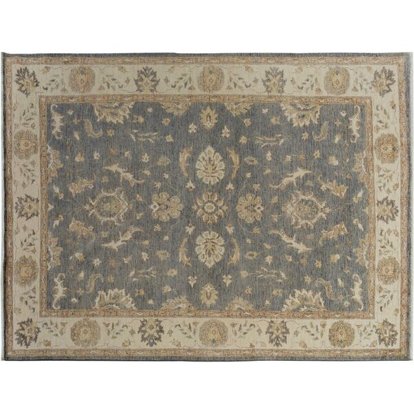 Xenos Hand-Knotted Wool Gray/Ivory Area Rug by Astoria Grand