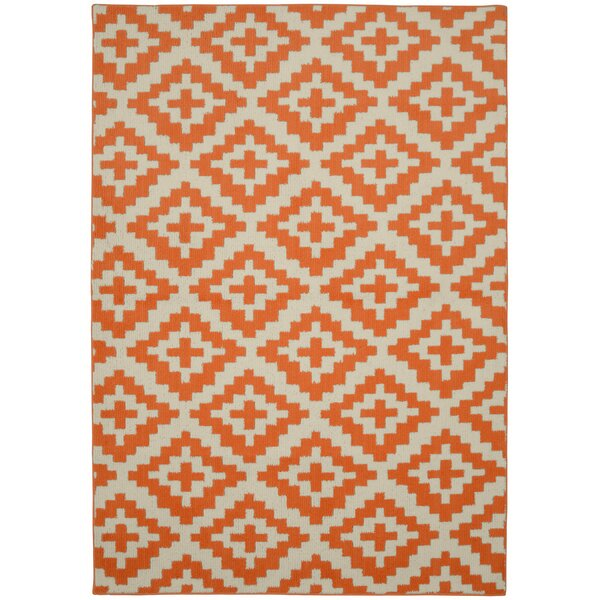 Southwest Orange/Ivory Area Rug by Garland Rug