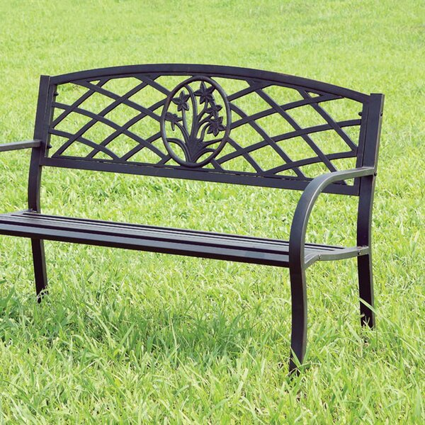 Carlile Stainless Steel Garden Bench by Charlton Home