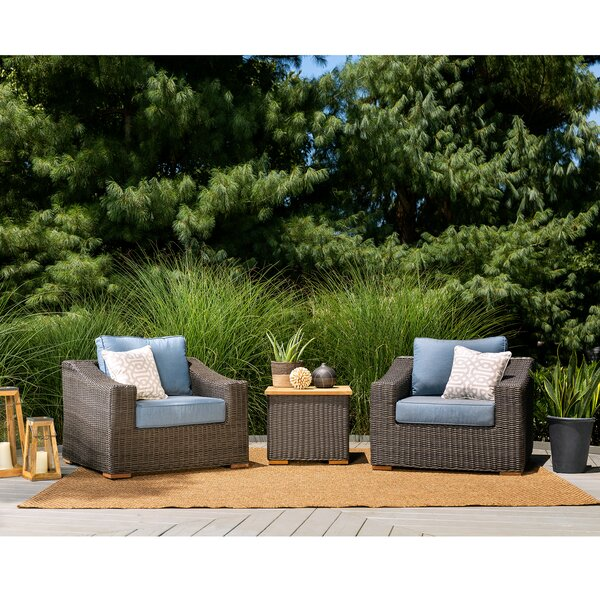 New Boston 3 Piece Sunbrella Sofa Seating Group with Cushion by La-Z-Boy Outdoor