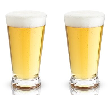 Raye™ Crystal Pint Glass (Set of 2) by Viski