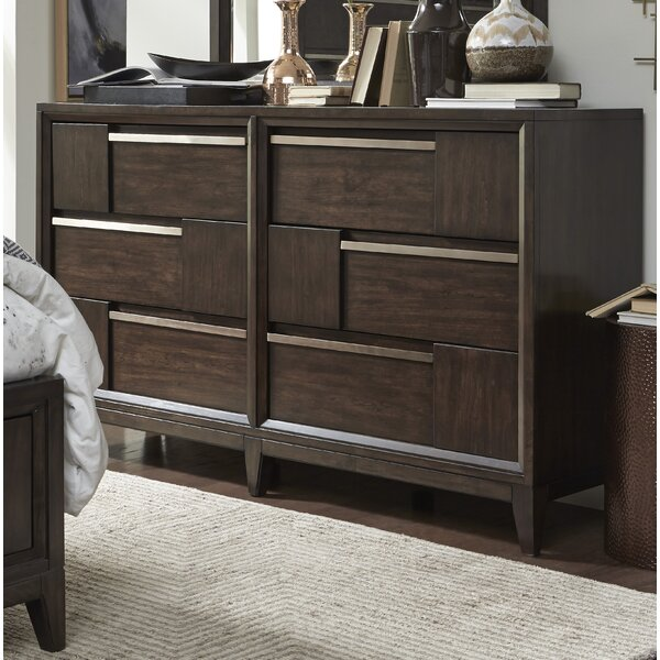 Swinton Wood 6 Drawer Double Dresser by Ivy Bronx