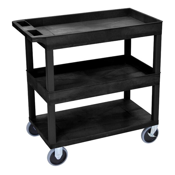 E Series Heavy Duty Utility Cart with 2 Tub and 1