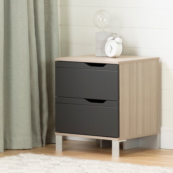 Kanagane 2 Drawer Nightstand by South Shore