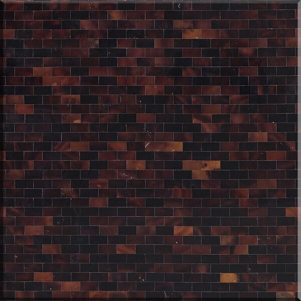 12 x 12 Authentic SeaShell Tile Seamless Brick Mosaic Panel in Warm Brown Mother of Pearl by Matrix-Z