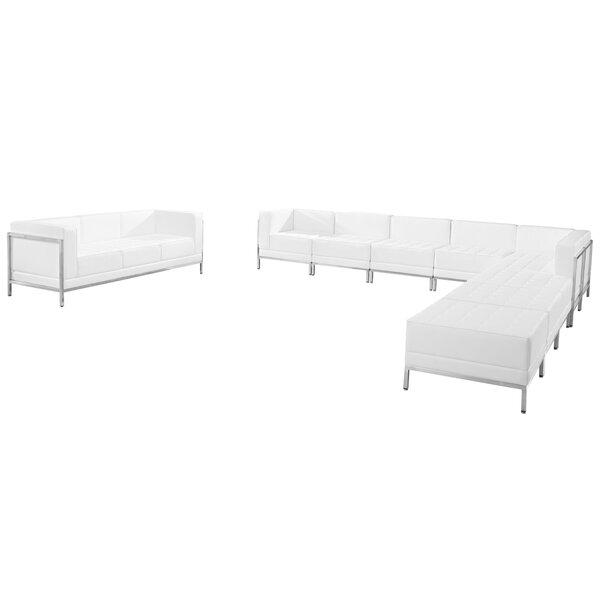 Bouffard Melrose Modular Sectional Sofa Set with Ottoman by Orren Ellis