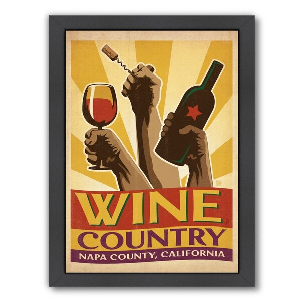 Wine Country Framed Vintage Advertisement by East Urban Home