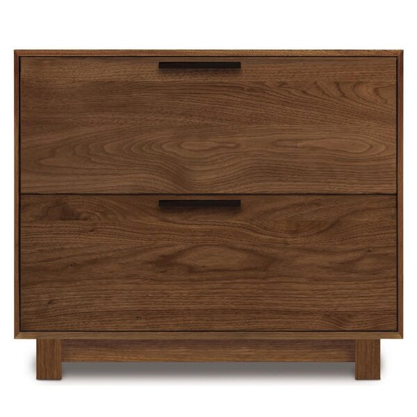 Linear Office Storage 2 Drawer Lateral Filing Cabinet