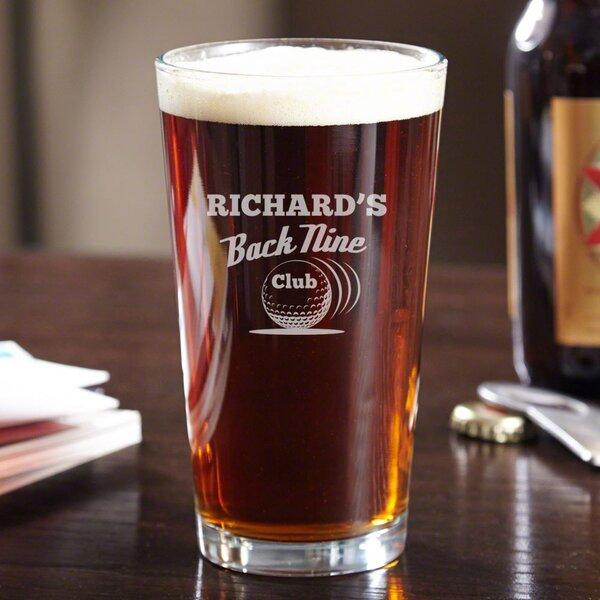 Back Nine Club Custom 16 oz. Glass Pint Glass by Home Wet Bar