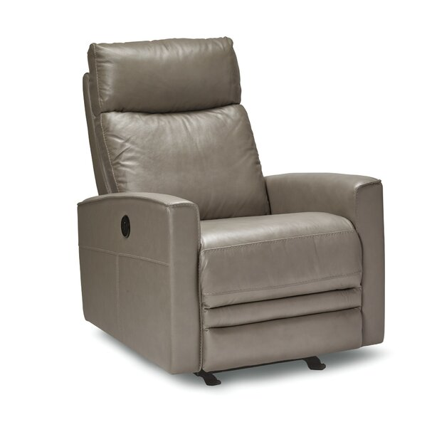 Mcnab Leather Power Rocker Recliner