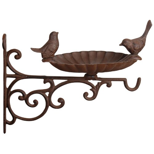 Oneybrook Wall-Mounted Birdbath Dakota Fields