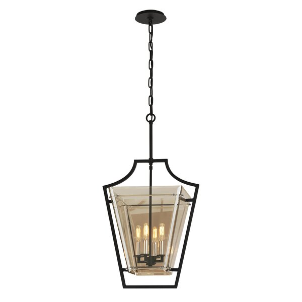 Alise 4 - Light Lantern Geometric Chandelier by Darby Home Co Darby Home Co