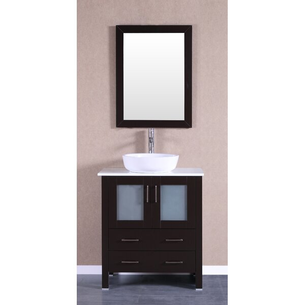 Hodgeman 30 Single Bathroom Vanity Set with Mirror by Bosconi