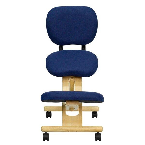 Mobile Wooden Height Adjustable Kneeling Chair