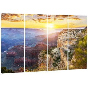 'Grand Canyon' 4 Piece Graphic Art on Wrapped Canvas Set by Design Art