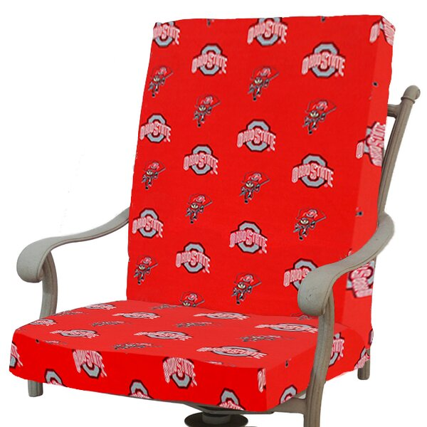 NCAA Ohio State Indoor/Outdoor Dining Chair Cushion By College Covers