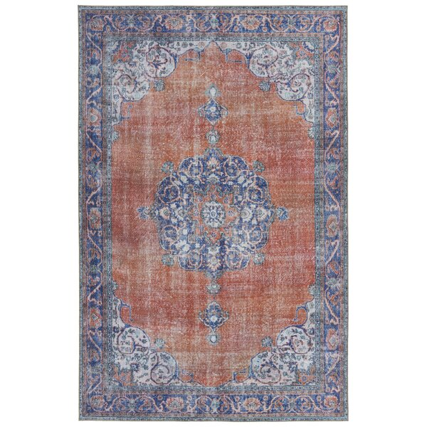 Olinger Paprika Indoor/Outdoor Area Rug by Bungalow Rose