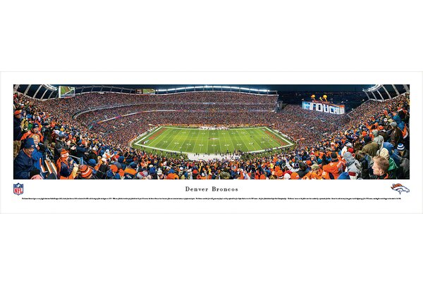 NFL Denver Broncos - 50 Yard Line Photographic Print by Blakeway Worldwide Panoramas, Inc