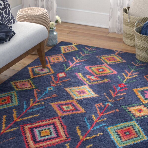Popel Hand-Tufted Blue Area Rug by Zipcode Design