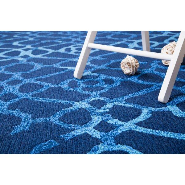 Heritage Hand-Tufted Blue Indoor/Outdoor Area Rug by Hokku Designs