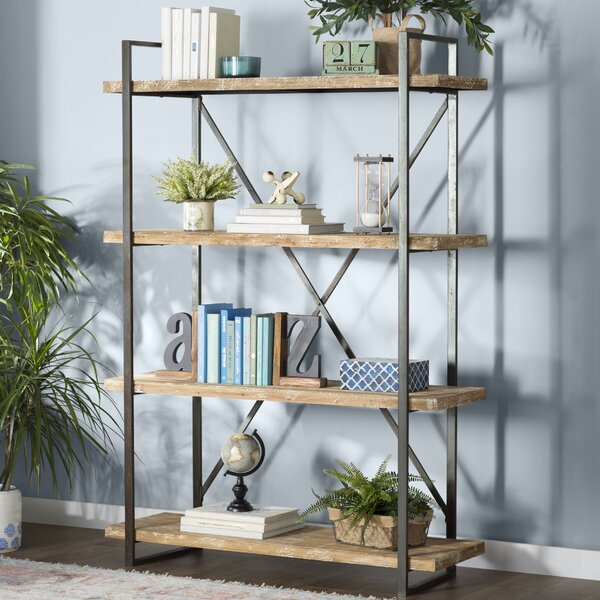 Hardwick Metal Wood Bookcase by Trent Austin Design