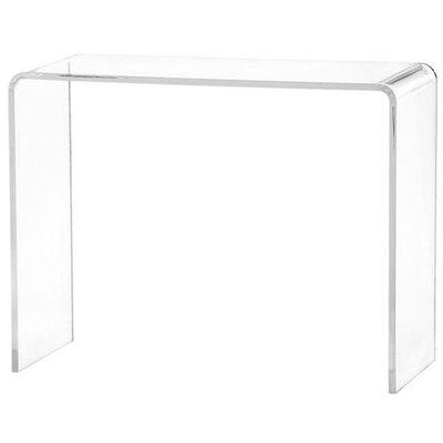 zaira acrylic console table