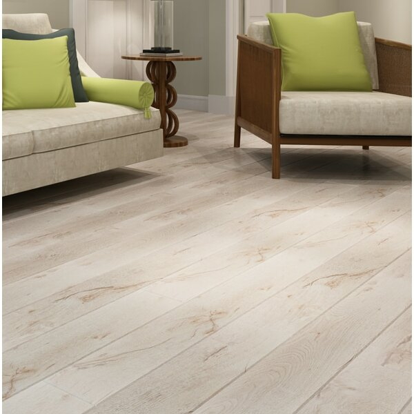 Country 47.85 x 4.96 x 12mm Laminate Flooring in White Oak by Dekorman