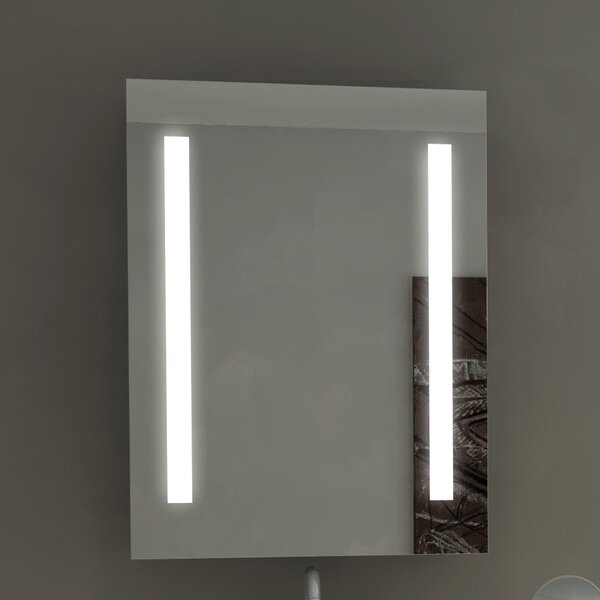 Lency Rectangle Illuminated Wall Mounted Bathroom / Vanity Wall Mirror by Orren Ellis
