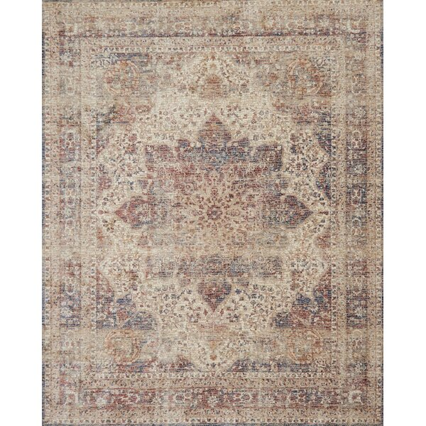Dietrick Hand-Hooked Ivory/Red Area Rug by Bloomsbury Market