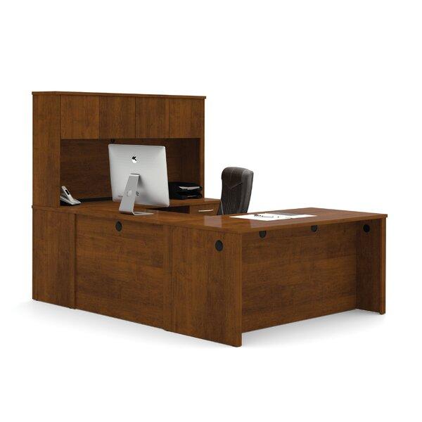Karyn U-Shape Executive Desk with Hutch by Latitude Run