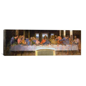 'The Last Supper' by Leonardo Da Vinci Painting Print on Canvas by Astoria Grand