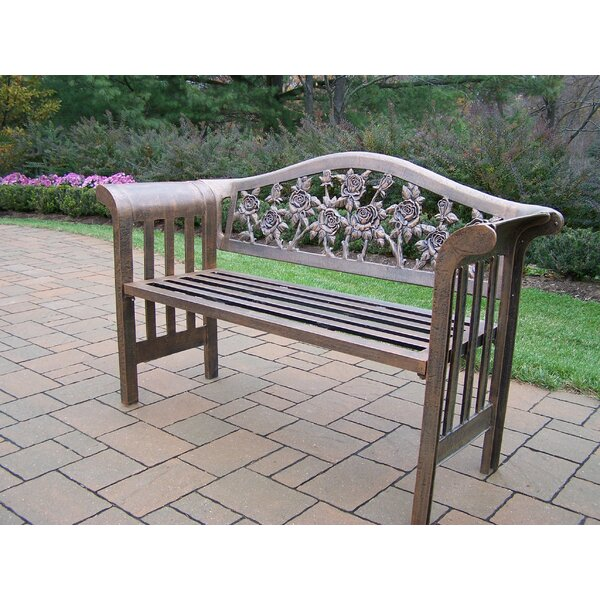 Tea Rose Royal Aluminum Garden Bench by Oakland Living