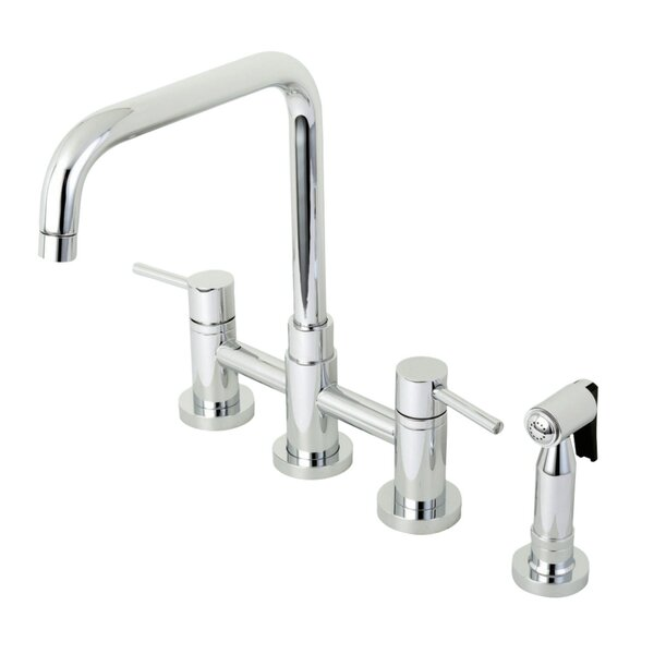 Concord Centerset Double Handle Kitchen Faucet with Side Spray by Kingston Brass
