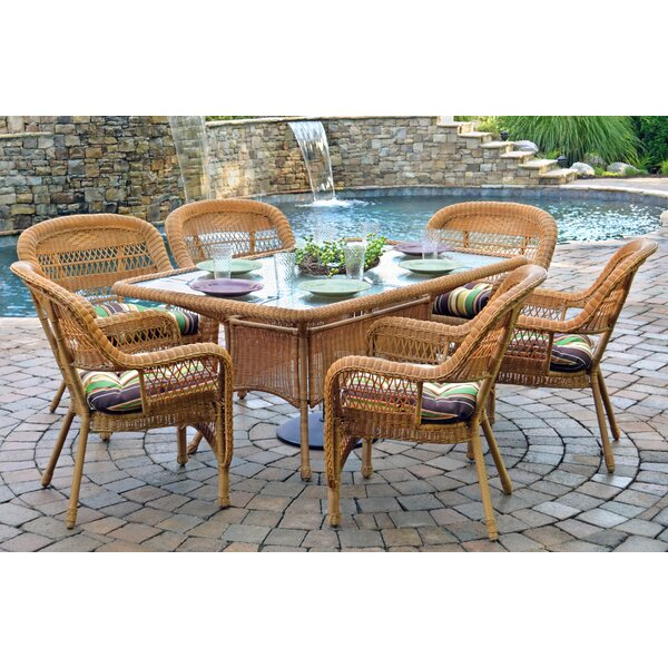 Ray 7 Piece Dining Set with Cushions by Alcott Hill