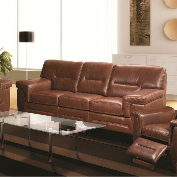 Web Shopping Kennard Leather Sofa by Red Barrel Studio by Red Barrel Studio
