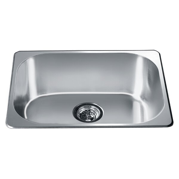 22 L x 17.75 W Top Mount Single Bowl Kitchen Sink by Dawn USA