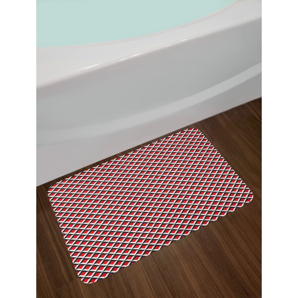 Abstract Relief Geometric Bath Rug by East Urban Home