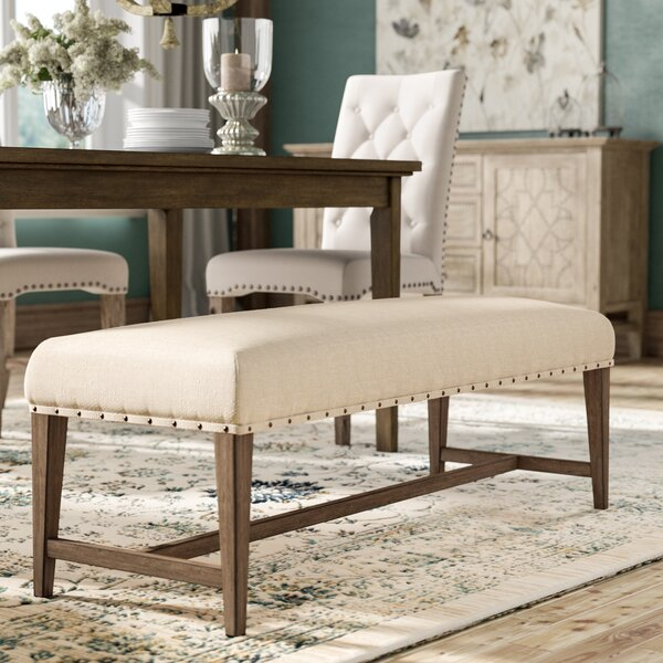 Crisp Upholstered Bench by Three Posts
