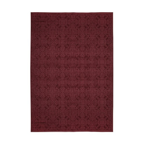 Ancelina Red Area Rug by Bloomsbury Market