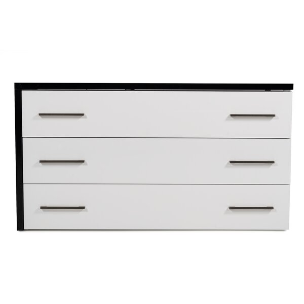 Basalt 3 Drawer Standard Dresser by Orren Ellis